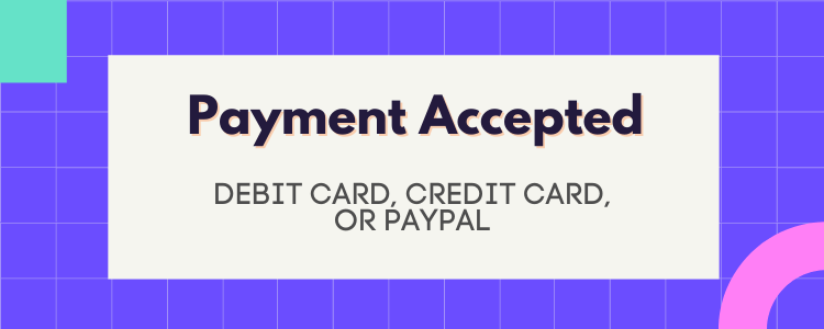 Payment Method on fivesquid accepted