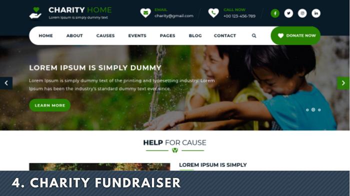 Charity Fundraiser wordpress theme