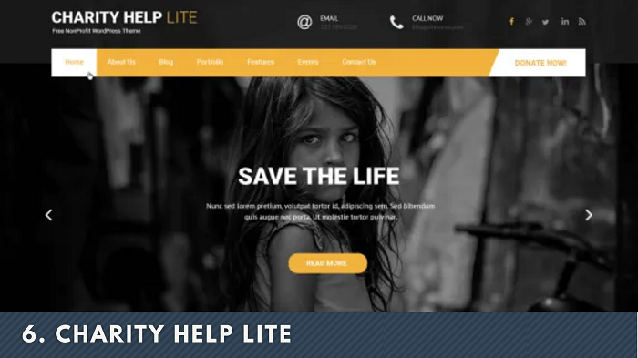 Charity Help Lite wordpress theme