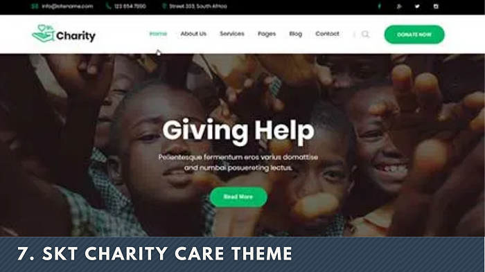 SKT Charity Care Theme