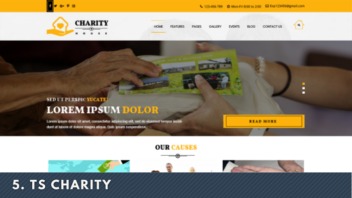 TS Charity wordpress theme