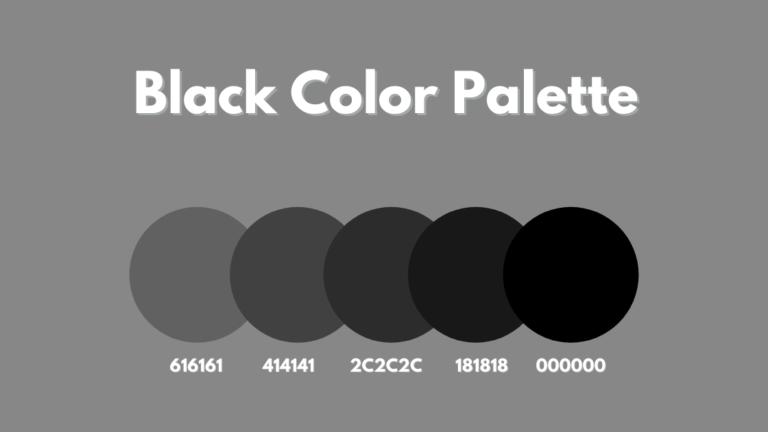 Black Color Palette