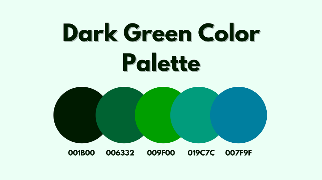 Dark Green Color Palette