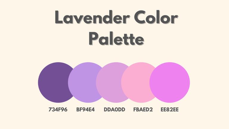Lavender Color Palette