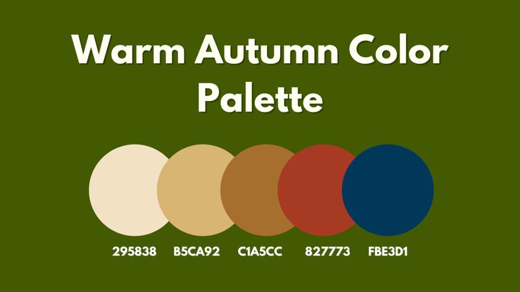 Warm Autumn Color Palette