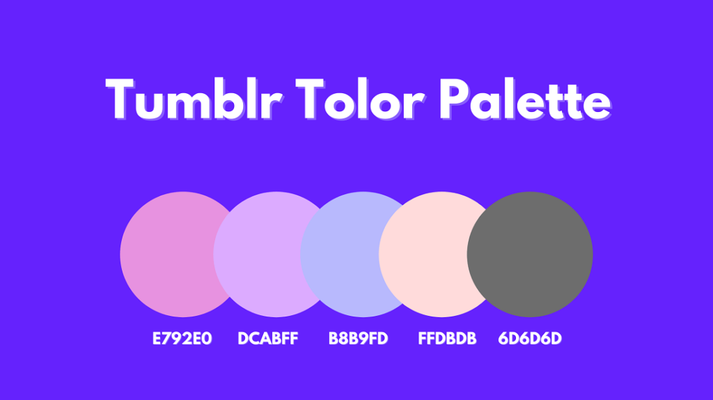 tumblr color palette
